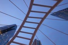 Uprisen angle Chong Nonsi skywalk Sathon - Naradhiwas Intersect Royalty Free Stock Photo