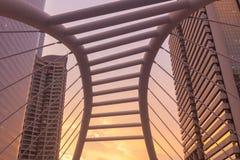Uprisen angle Chong Nonsi skywalk Sathon - Naradhiwas Intersect Stock Photos