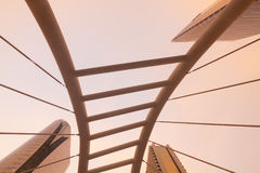 Uprisen angle Chong Nonsi skywalk & x28;Sathon - Naradhiwas Intersect Stock Photos