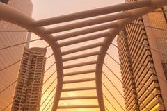 Uprisen angle Chong Nonsi skywalk & x28;Sathon - Naradhiwas Intersect Royalty Free Stock Images