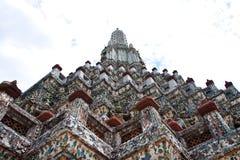 Uprisen view of prang in Wat Arun Stock Photos