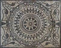 Uprising sun on Mosaic in Roman villa. From II Century B.C Royalty Free Stock Images