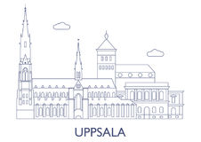 Upsália, as construções as mais famosas da cidade Foto de Stock