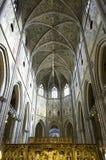 UPSÁLIA, SUÉCIA - AGOSTO 23,2014: A catedral data tarde do 13o Fotografia de Stock