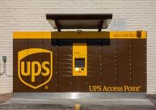 UPS  Access Point lockers Phoenix, Az,USA royalty free stock image