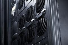 UPS Array in a data center. UPS server rack Array in a data center stock images