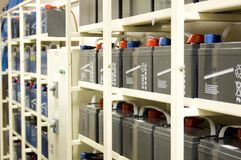 UPS-Batterien stockbilder