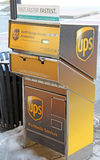 UPS box Pittsfield,MA Royalty Free Stock Photography