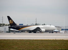 UPS cargo jet Royalty Free Stock Photography