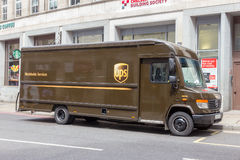 UPS ciężarówka zdjęcie royalty free