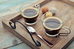 �ups of coffee Stock Image