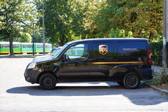 UPS delivery car Royalty Free Stock Photo