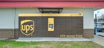 UPS Dojazdowy punkt Fotografia Stock
