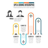 Ups Downs Infographic Stock Image