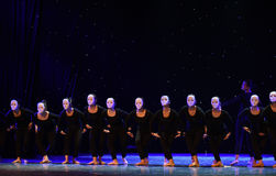 The ups and downs-The lonely dancer-Modern dance. June 10, 2015, the Jiangxi Vocational Academy of Art dance show performance Stock Image