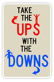 Ups and downs. Taking the good things with the bad things in life Stock Images