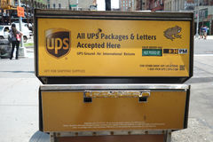 UPS Drop Box Royalty Free Stock Image