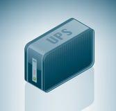 UPS (fuente de alimentación continuo) ilustración del vector