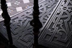 UPS kroki fałszował metali schodki z wzorami obrazy royalty free