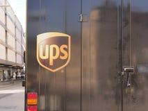 UPS lastbil Fotografering för Bildbyråer