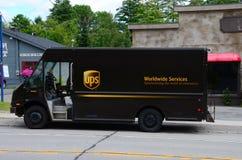 UPS leveranslastbil Royaltyfri Bild