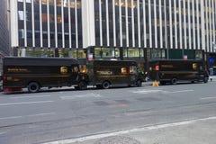 UPS-LKWs Stockfoto