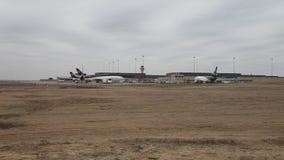 UPS nivåer och nav på DFW-flygplatsen arkivfilmer