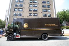 UPS PACKAGE LOGISTICS Stock Photo