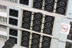 UPS power sockets Stock Image