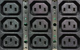 UPS power sockets Royalty Free Stock Image