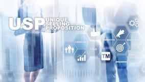 UPS - Propositions de vente uniques Concept d'affaires et de finances sur un ?cran structur? virtuel Media m?lang? images libres de droits