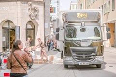UPS truck Stock Photo