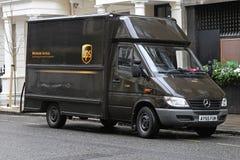 UPS Van Immagine Stock Libera da Diritti