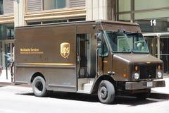 UPS-vrachtwagen Royalty-vrije Stock Afbeelding