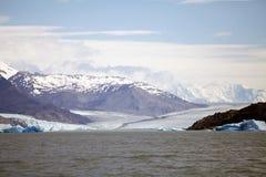 Upsala从阿根廷湖,阿根廷的冰川视图 免版税图库摄影