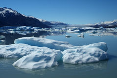 Upsala Glacier. Iceberg floating on lake, Upsala Glacier, Argentino Lake, Patagonia, Argentina Royalty Free Stock Images