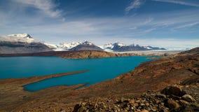 Upsala Glacier, El Calafate, Argentinian Patagonia. Upsala Glacier, moraine and bedrock polished in ancient times when the glacier was greater, El Calafate royalty free stock photography