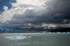 The Upsala glacier in Patagonia, Argentina. royalty free stock photography