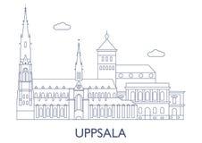 Upsala, le costruzioni più famose della città Fotografia Stock