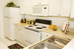 Upscale Apartment Kitchen Royalty Free Stock Photography