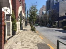 Upscale area of Aoyama, Tokyo Stock Images