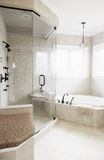 Upscale Bathroom Interior Stock Photo