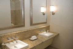Upscale Bathroom Vanity Royalty Free Stock Image