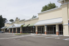 Upscale beige strip mall Stock Image