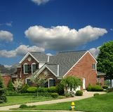 Upscale Brick Home in Kentucky Stock Photography