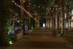 Upscale business and retail shopping at night. Elite business, restaurant, and retail shopping area of Scottsdale, Arizona, at night Stock Image