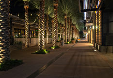 Upscale business and retail shopping at night Royalty Free Stock Photography