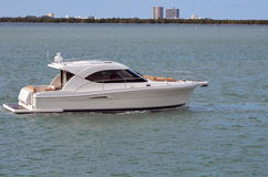 Upscale Cabin Cruiser Stock Image