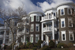Upscale condos and homes of South Boston, Massachusetts, USA Royalty Free Stock Photos