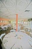 Upscale Dining. A photo of a very upscale Florida room dining area.  Photo taken on Sanibel / Captiva Island Stock Photo